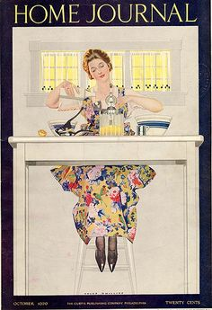 U.S. Home Journal  cover, October, 1920 // by Coles Phillips | via Flickr.