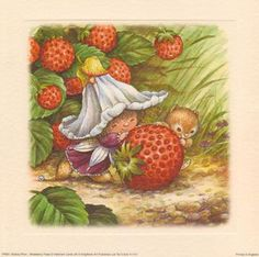 DIY prints little strawberry fairy Strawberry Pictures, Victoria Plum, Plum Art, 3d Printing Diy, Strawberry Shortcake Doll, Holly Hobbie, 3d Prints, Country Art, Gnomes