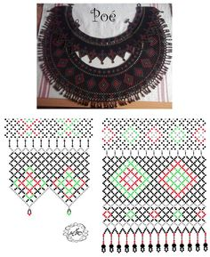 Дыхание Бисера's photos Diy Necklace Patterns, Beaded Jewelry Patterns, Beading Patterns, Beading Projects, Beading Tutorials, Bead Loom Bracelets, Beads And Wire, Loom Beading, Beaded Flowers