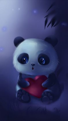 aaaw i looove it it is sooo sweet Cute Panda Wallpaper, Bear Wallpaper, Cute Disney Wallpaper, Cute Wallpaper Backgrounds, Wallpaper Iphone Cute, Animal Wallpaper, Galaxy Wallpaper, Panda Wallpapers, Cute Cartoon Wallpapers