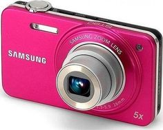 Samsung EC-ST90ZZBPPCA Digital Camera with 14.2 MP and 5x Optical Zoom Pink by Samsung. $152.59. Capture those special moments with the Samsung ST90 14.2-Megapixel Digital Still Camera. With HD Movie, you can record high-definition video. The camera comes equipped with a 26mm wide-angle Samsung lens, a 5x optical zoom, and Intelli-Studio software that lets you play, edit, and share files on your PC. Samsung's Smart Auto 2.0, Beauty Shot, and Smart Crop features make creating...
