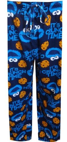 Sesame Street Cookie Monster Big And Tall Loungepants