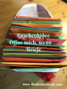 DIY: Öffne mich, wenn …. – Briefe – Die Plaudertasche