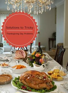Thanksgiving is a time to enjoy time off with loved ones and eating some delicious food! But for the party hosts sometimes the day can be too stressful! So, here are our solutions to some common turkey day issues!