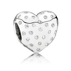 Add this Pandora Sparkle of Love Charm to your bracelet this season.  You can find this charm at www.benbridge.com #BenBridge