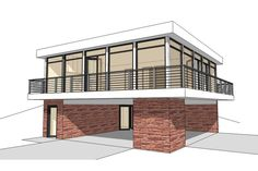 Modern Plan: 930 Square Feet, 2 Bedrooms, 1 Bathroom - 028-00098