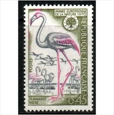 France YT 1634 - Scott 1269, 1970 Flamingo 45c MNH** stamp sur le France de eBid
