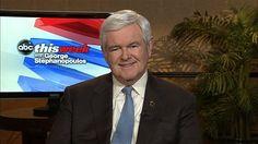 37 #prezpix #prezpixNG  election 2012  candidate: Newt Gingrich  publication: ABC News  photographer: ABC News  publication date: 3/7/12