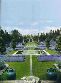 The Blue Garden at Beacon Hill, Rhode Island. Photographed in 1930.   {Image via the July/August issue of Apollo.}