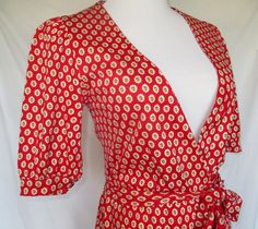 Vintage 1970s wrap dress by Souleiado/Charles Demery, Made in France SOLD