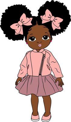 Black Love Art, Black Girl Art, Art Girl, Black Girl Magic, Drawings Of Black Girls, Black Art Painting, Black Girl Cartoon, Black Art Pictures, Afro Puff