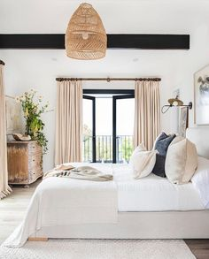 This bedroom had me at hello! The juxtaposition of modern and traditional elements make it an instant classic hit for me. And the art and…