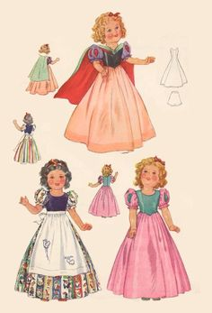 Incredible vintage doll clothes pattern from qualityvintagedollpatterns.com