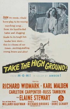 Take the High Ground posters for sale online. Buy Take the High Ground movie posters from Movie Poster Shop. We're your movie poster source for new releases and vintage movie posters. Karl Malden, Film Theory, Film World, In Harm's Way, War Film, Texas, Higher Ground, Movie Poster Art, Print Poster