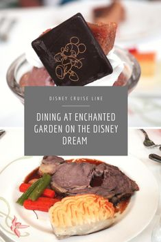 Heading on a Disney Cruise? Enchanted Garden on the Disney Dream transports guests to the gardens of Versailles with its amazing food and atmosphere. Disney Dream Cruise, Disney Cruise Tips, Cruise Vacation, Vacation Destinations, Disney Menus, Enchanted Garden, Food Menu, Family Vacations, Dream Vacations