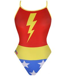 Take to the pool with the confidence of a superhero in this playful suit design from Splish. #Halloween #swimsuit #superhero  http://www.swimoutlet.com/product_p/16822.htm