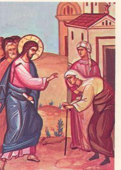 jesus heals | ... of the bent woman whom Jesus heals on the Sabbath (Luke 13:10-17