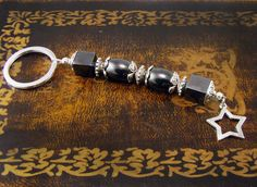 Fashion Women Keychain Ring made of Greek by alittlebeadofme, $10.90