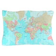 Map of the world Pillow Case
