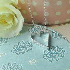 Hanging Heart Personalised Pendant