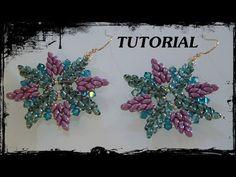 """Tutorial Perline: Orecchini """"Cristallo"""" realizzati con superduo, swarovs..."""