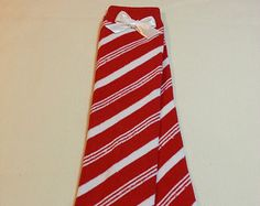 Christmas Leg Warmers, Red and White Candy Cane Striped with a Bow, Infant, Baby, Toddler, Preteen, Arm Warmers