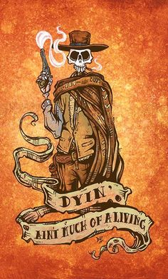 Blondie by David Lozeau Wild Western Cowboy Outlaw Giclee Art Print