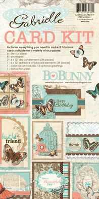Bo Bunny - Gabrielle Collection - Card Kit at Scrapbook.com $15.99