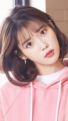 Iu Short Hair, Asian Short Hair, Short Hair Styles, Cute Korean, Korean Girl, Beautiful Girl Hd Wallpaper, Girl Wallpaper, Girl Photo Shoots, Model Face