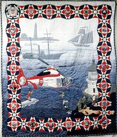 Coast Guard Quilt - This quilt is phenomenal.  I don't have the talent to even begin to attempt this!!