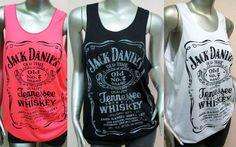 4ba669e13787 Top Tank Women Fluo Girl Femme Jack Daniels Official All Colors