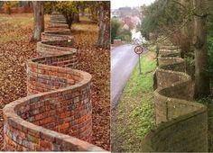 Ribbon Wall, Brick Fence, Walled Garden, University Of Virginia, Travel Tags, English Style, Along The Way, Garden Bridge, Garden Gates