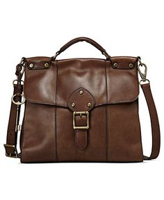 Fossil Handbag, Vintage Revival Leather Flap - Fossil