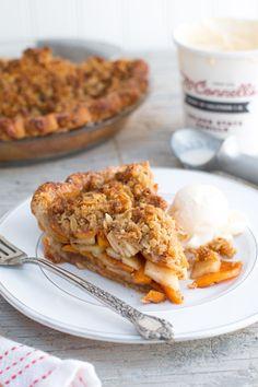 Apple Persimmon Crumble Pie   @beckysuebakes   bakingthegoods.com
