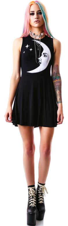 Kill Star Moon Child Skater Dress | Dolls Kill
