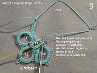muskaan's T*I*P*S: Tatting Tutorial : Layered Rings Part 2 and sneak peek