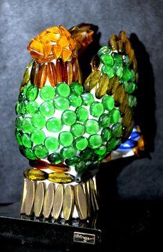 Dove, 50x50cm, Beads & Ceramic