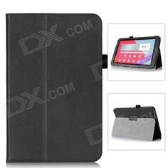 Protective PU Leather Case w/ Hand Strap Holder for LG G Pad 10.1 - Black Price: $18.61