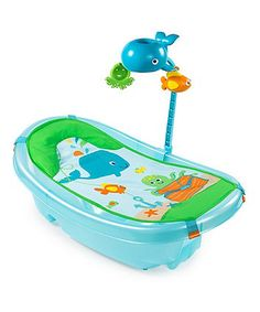 Keep your little one entertained as you get them nice and clean with the Summer Infant baby bath tub.  Suitable from birth to toddler, the bath which is exclusive to Mothercare features a removable bath sling and headrest to keep your newborn comfortable and supported and the padded seat will also recline.  The Summer Infant Ocean Buddies bath tub also comes with a toy bar which includes two detachable toys for bath time fun.