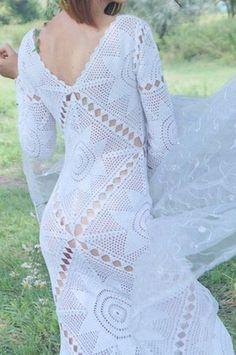 an Angel crochet maxi