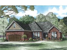 Country House Plan with 1848 Square Feet and 3 Bedrooms(s) from Dream Home Source | House Plan Code DHSW75035