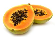 PAPAYA | This tropical wonder is a miracle for digestive / colon problems, skin problems, lung problems, & immune problems. Papain, the primary healing chemical, is a powerful digestive tract cleanser and can repair / remedy damaged or blemished skin. Rich in beta-carotene / vitamin A, papaya boosts the immune system and effectively slows the proliferation of cancer cells in the body. The peppery seeds are an extremely powerful anti-parasitic, which further assists with the digestive tract…