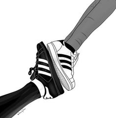 Addidas superstars tumblr outline