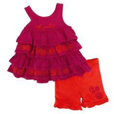 Guess Infant Girl Floral Ruffle Dress and Short Set #VonMaur