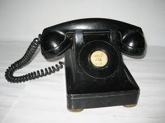 Vintage FIW F1W Handset Western Electric US Navy No Dial Telephone Black Phone $0.99 starting price