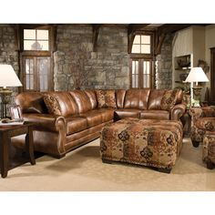 I really like the look of the leather, not really a sectional fan tho...maybe in a home theatre room.