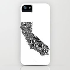 Typographic California iPhone Case