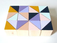 Amsterdam Block Magnets   12 Count Set   Wooden   by CuppaColor