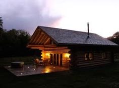 cabin woods river - Google Search