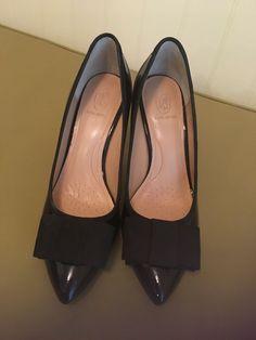 Joan /& David Women/'s Black Patent Leather Platform Stiletto Heels